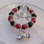 Clown Fish Wine Glass Charm - Full Sparkle Style